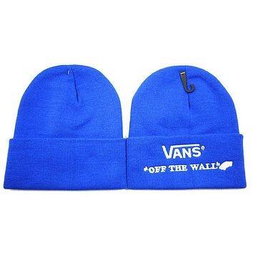 VANS Women Men Embroidery Beanies Winter Knit Hat Cap-2