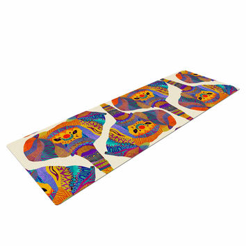"Pom Graphic Design ""Elephant Play"" Orange Animal Print Yoga Mat"