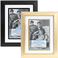 "Bulk Contemporary Beveled-Edge Matted Plastic Photo Frames, 4x6"" at DollarTree.com"