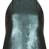 Liquid Metallic Cami - Green