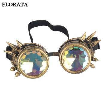 Retro Unisex Goggles Steampunk Glasses Welding Cosplay Sunglasses Vintage Victorian Eyewear 5 Colors