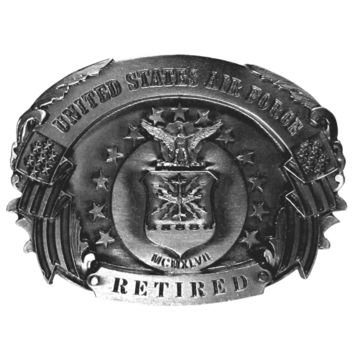 Sports Jewelry & AccessoriesSports Accessories - Air Force Retired Antiqued Belt Buckle