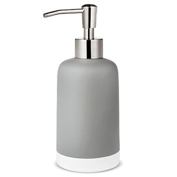 Frosted Soap Pump Gray - Room Essentials™