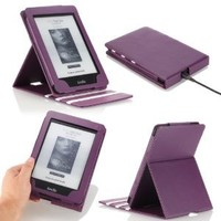 MoKo Kindle Paperwhite Case, Premium Vertical Flip Cover with Auto Wake / Sleep for Amazon All-New Kindle Paperwhite (Fits All 2012, 2013 and 2015 Versions), PURPLE