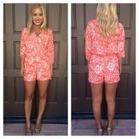 Paint the Town Red Romper