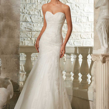 Blu by Mori Lee 5309 Fit and Flare Wedding Dress