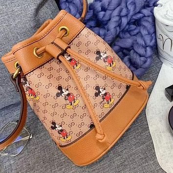Disney Mickey Small Lucky Bag Bucket Bag Crossbody Shoulder Bag Gift Box Bag Women's Bag More Mouse