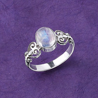Hearts Desire Ring - New Age, Spiritual Gifts, Yoga, Wicca, Gothic, Reiki, Celtic, Crystal, Tarot at Pyramid Collection