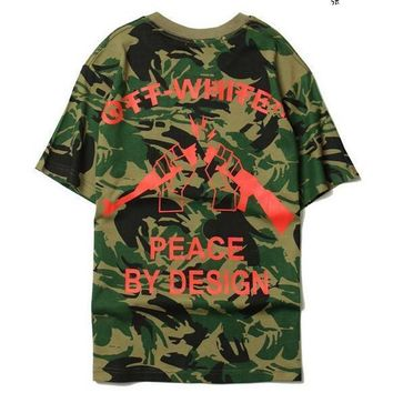 ca qiyif Sponge mice Camouflage t shirt Short Sleeve men T Shirt OFF-White top tee