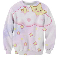 Kawaii Star Rain Cloud Sweater 💕😍