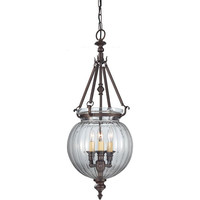 Murray Feiss Luminary 3 Light Bronze Orb Chandelier - F2800/3ORB