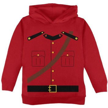 PEAPGQ9 Halloween Canadian Mounty Police Costume Toddler Hoodie