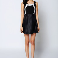 Black Chiffon Mini Dress