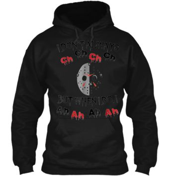 Halloween Horror Movie Killer  Pullover Hoodie 8 oz