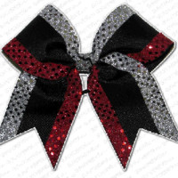 Custom Texas Size, Standard Size, Youth Size, and Pig Tail Hair Bows for Cheer / Dance by POWERBows - 9537