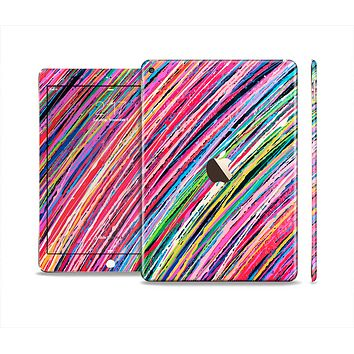 The Abstract Color Strokes Skin Set for the Apple iPad Air 2