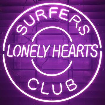 Surfers Club Lonely Hearts Neon Sign Real Neon Light Z1353