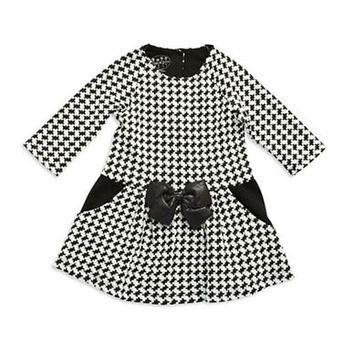 Pippa & Julie Girls 2-6x Houndstooth Fit and Flare Dress