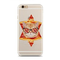 for iPhone 6/6S Plus - Super Slim Case - Pizza Cat - Funny Cats - Cat Lover - Pet Lover - Cats (C) Andre Gift Shop