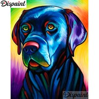 5D Diamond Painting Abstract Black Lab Kit