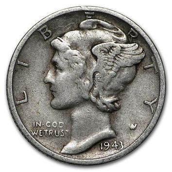 1943-S Mercury Dime Good/VF