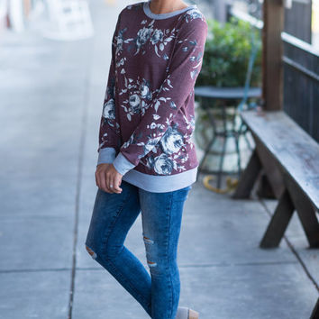 Easy To Love Sweatshirt, Maroon