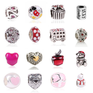 European Character Fun Charm Beads Fit For Pandora Style Bracelet