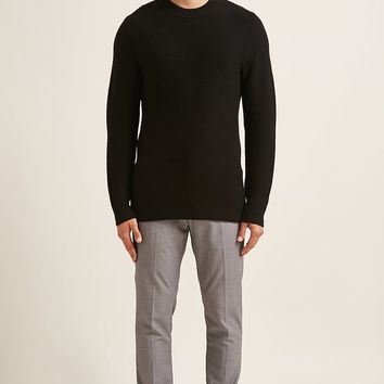 Modern Ribbed Knit Sweater