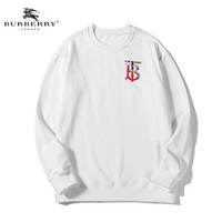 Copy of Burberry Fall  and Winter New Casual Cotton Appliqué Embroidered Terry Sweater White