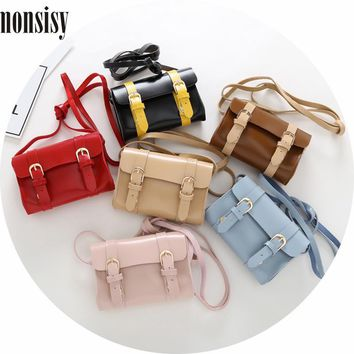 Monsisy 6PCS Christmas Girl Handbag Boy Shoulder Bag Baby Coin Purse Children Wallet Fashion PU Leather Kid Messenger Bag Gift