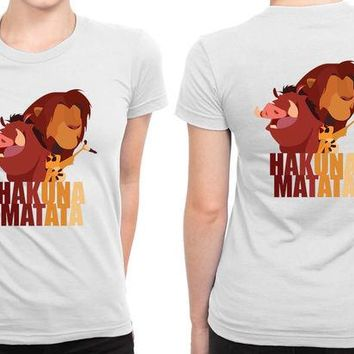 DCCKG72 Hakuna Matata Lion King B 2 Sided Womens T Shirt