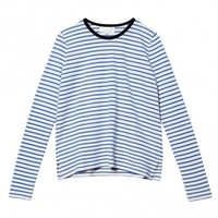 Long Sleeve Striped Crew