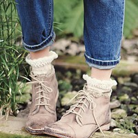 Free People Womens Vaughan Crochet Boot