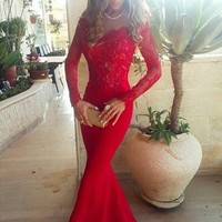 Off Shoulder Long Sleeve Prom Dresses