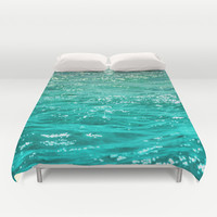 SIMPLY SEA Duvet Cover by Catspaws