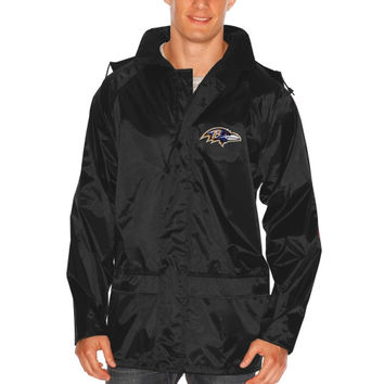 Baltimore Ravens Dugout Full Zip Rain Jacket – Black