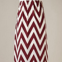 Step in the Right Direction Chevron Maxi Dress - Maroon