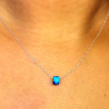 Turquoise Layering Necklace / Simple Necklace / Charm Necklace / Chokers / Layering Necklace / Stacking Necklace