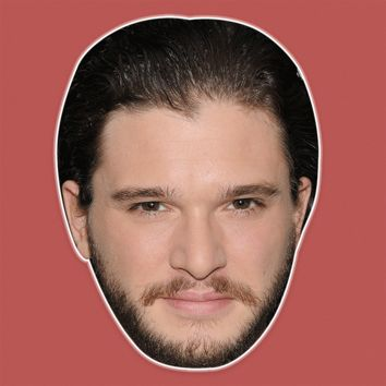 Disgusted Kit Harington Mask - Perfect for Halloween, Costume Party Mask, Masquerades, Parties, Festivals, Concerts - Jumbo Size Waterproof Laminated Mask