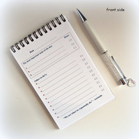 To do list notepad - Size 4x6 inch.- Wire binding - Chipboard cover