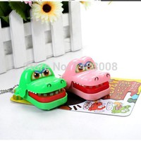 New Plastic Crocodile Dentist Bite With Keychain Mouth Dentist Game Toy Party High Quality