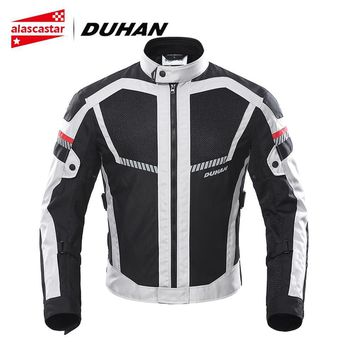 Trendy DUHAN Summer Motorcycle Jacket Men Motorbike Jacket Moto Protective Gear Breathable Mesh Reflective Riding Jacket Biker Clothing AT_94_13