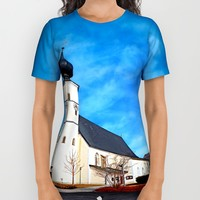 The village church of Sankt Veit / Mkr 3 All Over Print Shirt by Patrick Jobst   Society6