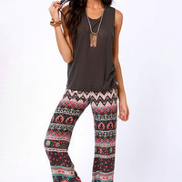Billabong Beauty Bells Print Wide-Leg Pants