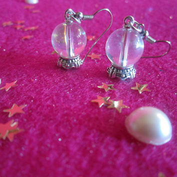 Crystal Ball Earrings by XscarsoverhollywoodX on Etsy
