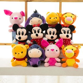 Disney Plush Animal Plush Mickey Mouse Minnie Winnie the Pooh Doll Lilo and Piggy Pig Pendant Boy Girl Birthday Gift Christmas