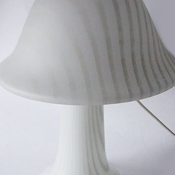 Vintage German HUGE Peill and Putzler White Opal Glass Mushroom Table /Floor Lamp - 1970s