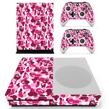 S0053 Game accessories Skin Sticker for Microsoft Xbox One Slim Console and 2 Controllers skins Stickers for XBOXONE Slim