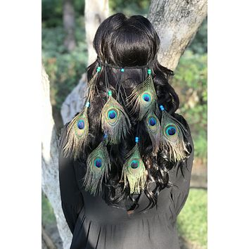 Peacock Feather Headband #B1073