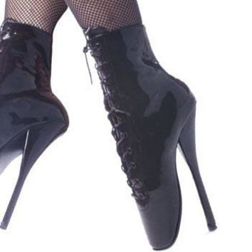 Pleaser Female 7 Inch Spike Heel Ballet Ankle Boots BAL1020